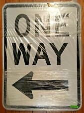 """ONE WAY LEFT TRAFFIC STREET SIGN (Approximately 18"""" x 24"""")"""