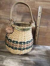 Vintage 1999 Karen Traub Originals Woven Basket With Designer Series 1999 Label