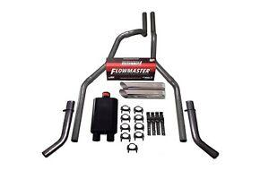 """04-14 Ford F-150 2.5"""" Dual Exhaust Flowmaster Super 44 Corner Exit Slash Tip"""