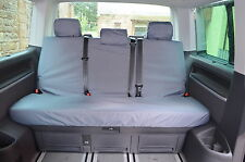 VW Transporter T5 T6 Caravelle 2003+ Rear Bench Tailored Grey Seat Covers