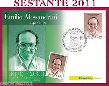 ITALIA MAXIMUM MAXI CARD 2009 EMILIO ALESSANDRINI ANNIVERSARIO DELLA MORTE A191