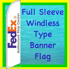 FED EX FEDEX WINDLESS BANNER FLAG Advertising Sign Feather Swooper Bow Flutter