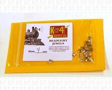 K4 HO Parts 4.0 Mm 0.16 Inch Marker Lamp Headlight Crystal Clear Jewel Lenses