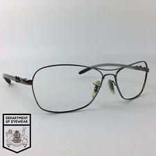 RAY BAN eyeglasses GREY/SILVER RECTANGLE glasses frame MOD: RB8302 004/40