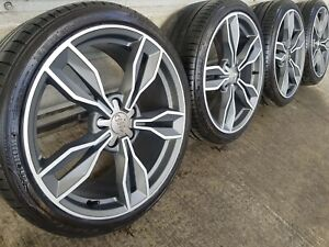 """Genuine Audi TT TTS RS 19"""" S line Forged Alloy Wheels & Tyres A4 A6 5x112 Mint"""