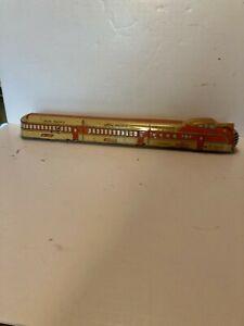 "Marx 1930's ""O"" Union Pacific Windup 1 Piece Streamliner Floor Toy M10003"