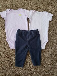 baby girl outfit size 3 months, comfy jeans, purple bodysuits tops, 3 month girl