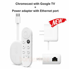 Google Chromecast with Google TV - Streaming Entertainment with Adapter