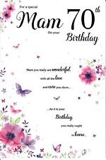 Beautiful Greeting Card For A Special Mam On Your 70th Birthday