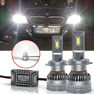 2x For BMW 3Series 330i 320i 328i 335 H7 White LED Headlight High Low Beam Bulbs