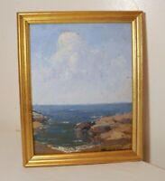 antique ARTHUR VAN ZILE BODWEL sea landscape abstract expressionism oil painting