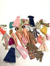 Barbie And Ken Lot (4) Vintage 1960s Era W /Clothes&Accessories