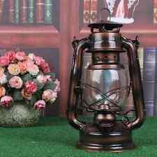Vintage Gift Bronze Copper Barn Railroad Kerosene Oil Lamp Lantern Home Decor