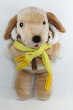 Vintage Avon Interpur Puppy Dog Plush Aviator Jacket Scarf