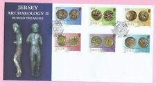 JERSEY Post 2011  FDC - ARCHAEOLOGY II - Buried Treasure - Special Handstamp
