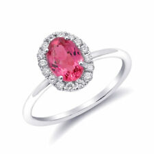 Natural Neon Tanzanian Spinel 1.08 carats set in 14K White Gold Ring