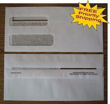 """500 Double-Window SELF-SEAL ENVELOPES #10 QuickBooks invoice/statements 9x4-1/8"""""""