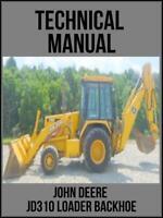 John Deere  JD310 Loader Backhoe Technical Manual TM1036 On USB Drive