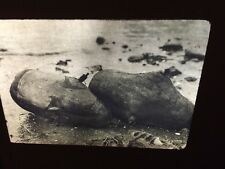 "Edward Curtis ""Whaling Floats"" Nootka Native American photography 35mm slide"