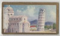 Leaning Tower Of Pisa and The Cathedral  Catholic Church 90+ Y/O Ad Trade Card