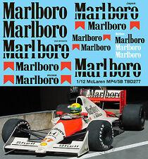 1/12 McLaren Honda MP4/5B F1 Ayrton Senna A. Prost for MFH HIRO Decals TBD277