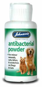 Johnsons Wound Antiseptic Antibacterial Powder 20g - Soothing Minor Cat Dog