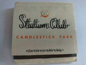 San Francisco Giants Candlestick Park Stadium Club Matchbook with 1965 Schedule