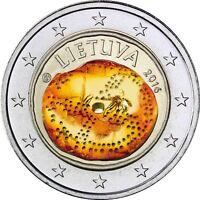 Litauen 2 Euro 2016 Baltische Kultur in Farbe