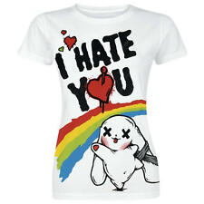 "T-SHIRT donna LUV BUNNY ""I HATE YOU"" by POIZEN EVIL - MAGLIETTA Divertente -S -"