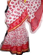 DESIGNER KERALA COTTON SARI  BLOCK PRINT STITCHED,BORDER, PALLU & BLOUSE