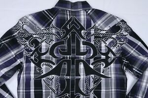 ROAR SIGNATURE MENS SMALL REWARD LONG SLEEVE BUTTON DOWN EMBROIDERED TRIBAL