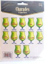 Charades Luau Party Game 12 pcs Paper Drink Game Pieces Graduation Party B38