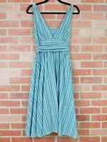 Banana Republic Womens Blue Striped Sleeveless Empire Waist Dress Size 4