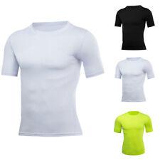 Herren Kurzarm T-Shirts Kompression Fitness Muskelshirt Tee Sportshirts Tops