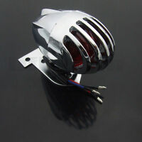 Chrome Motorcycle Rear Tail Brake license Lampe For Harley Cafe Racer Bobber NEW