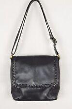 St Michael Marks & Spencer black leather cross body handbag