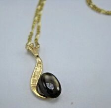 """14KT Yellow Gold Pave Figaro 22"""" Chain Necklace with 14K Gemstone Pendant"""