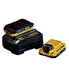 18v Stanley Fatmax V20 2.0AH Starter Kit 2 x Lithium Batteries 1 x Charger