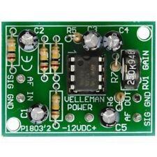 Velleman Bausatz K1803, Hifi Vor Verstärker, Mikrofon Audiosignal, Low Pegel
