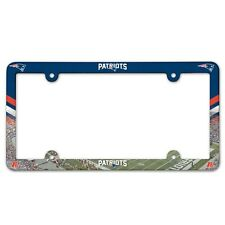 New England Patriots License Plate Frame - NFL - Made USA - Plastic - Full Color