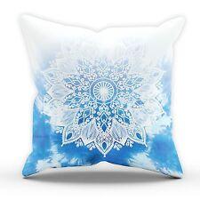 Blue Mandala Fade CUSHION Bedroom Summer Festival Tie Dye Living Home Style