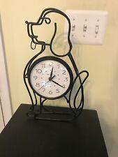 "AcuRite Metal Case Decorative Alarm Clock Dog Shaped 14"" Tall"