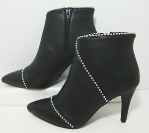 Apt 9 Black Beaded Ankle Boots Womens 9
