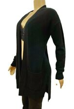Michael Kors Loose Slouchy Open Front Draped Sweater Medium Black $295