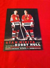 2008 NHL Stan Mikita-Bobby Hull Night program / Chicago Blackhawks / Stanley Cup