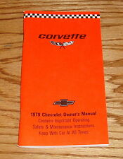 1979 Chevrolet Corvette Owners Operators Manual 79 Chevy