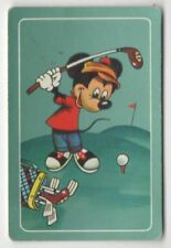 Swap Playing Cards 1 1960's Japanese Nintendo Mickey Mouse Golf Disney A126