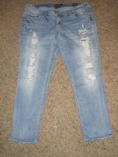 Silver Jeans Boyfriend Super Stretch Distressed Skinny Ankle Jeans Plus 18 x 29