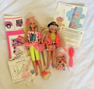 1990s era Skipper and Stacie dolls, Pet Pals w/ Dog,
