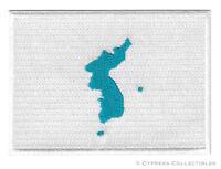 KOREAN UNIFICATION FLAG embroidered iron-on PATCH KOREA NORTH SOUTH KIM JONG UN